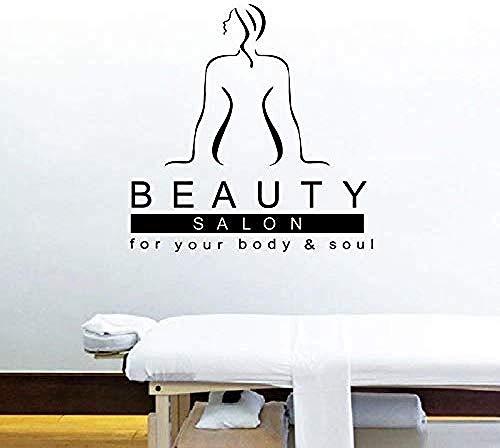Schönheitssalon für Ihren Körper Seele Termin Kunst Wandaufkleber Therapie Entspannen Massagetherapeut SPA Frau Schönheitssalon Wandtattoos 56x56cm -
