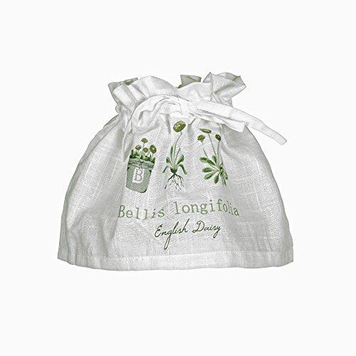 Lampenschirm-Husse mit Gestell 'Bellis' weiß mit Blumenmuster-Aufdruck in grün grau Baumwolle Skandinavisch Landhaus Shabby French Vintage Retro Antik Nostalgie