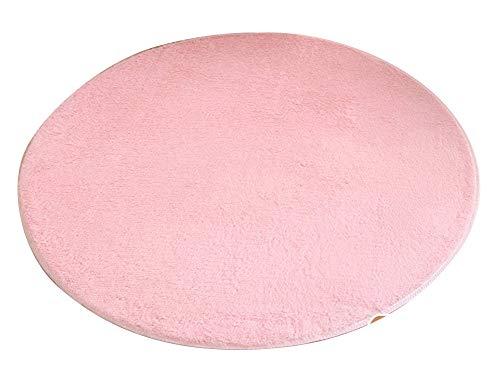 ZhuiKunA Shaggy Rund Weich Teppich,Wohnzimmer Schlafzimmer Kinderzimmer Stuhlkissen Bodenmatte Pink (120 cm) -