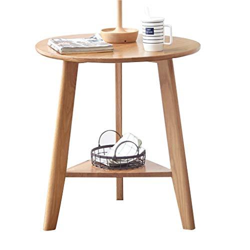 Tables Table Basse Table De Téléphone Table De Chevet De Style Nordique Bordure En Bois Massif Triangle Salon Double Canapé Vert Table De Tables de dos de canapé (Color : Wood, Size : 60 * 60 * 65cm)
