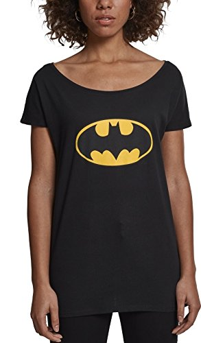 (MERCHCODE Herren Batman Logo Tee T-Shirt, Black, M)
