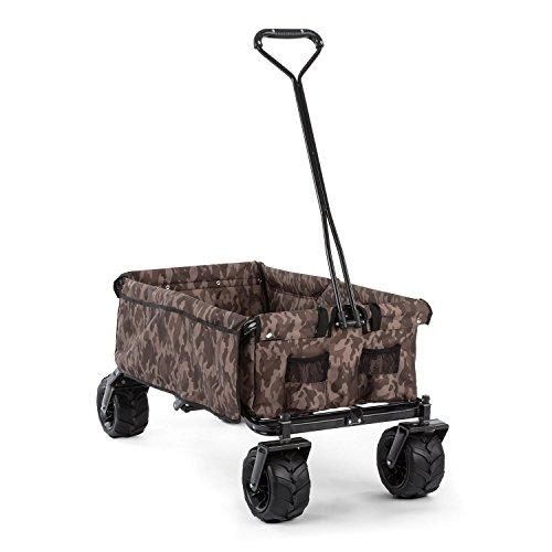 Preisvergleich Produktbild Waldbeck The Camou Bollerwagen Handwagen Transportwagen Einkaufswagen (faltbar, Zuladung 70 kg / 90 Liter, breite Räder) camouflage