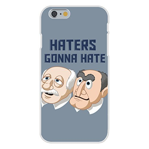 """Apple iPhone 6 Custom Case White Plastic Snap On - """"Haters Gonna Hate"""" Funny Classic Puppet Franchise Parody"""