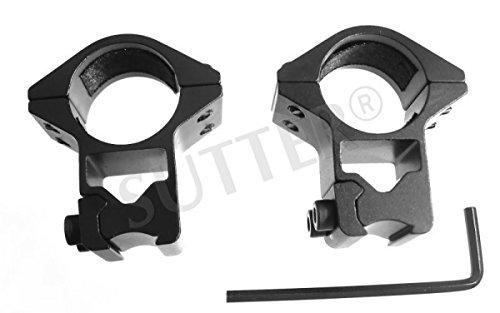 SUTTER® Paire de montage pour lunettes de visée/Diamètre : ø 25,4mm/Hauteur : 50mm/Pour rails de prismes 11-13mm/En aluminium très dure