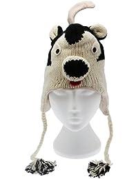 Fun mofeta mano invierno lana animal gorro con forro polar, unisex