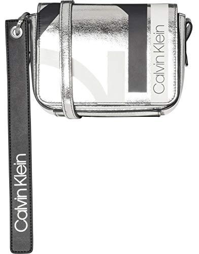 chen Damen, Farbe Braun, Marke, Modell Handtaschen Damen Block Saddle Braun, Silver (Silber / Weiß / Schwarz), S ()