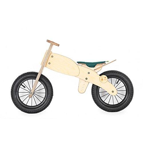 Luxus Lauflernrad / Motorrad Stil- Balance LaufradHolz Kinder Fahrrad Laufrad Classic DipDap Grün für Kinder ab 3 Jahren