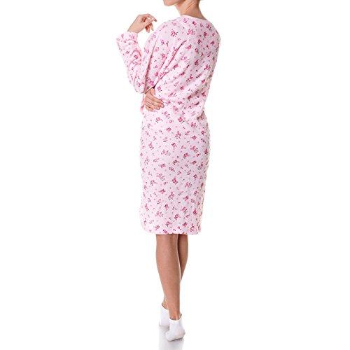 Damen Nachthemd Schlafshirt Nighty Sleepshirt Negligee 21693 Rosa