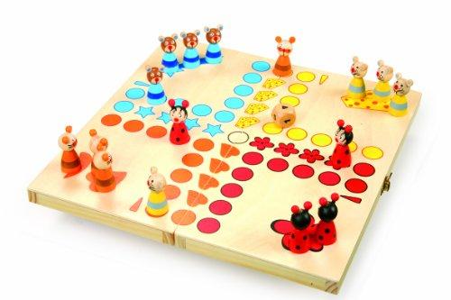 small foot 7358 Ludo 'Animaux' en bois, jeu de société pour petits et grands, avec figures...