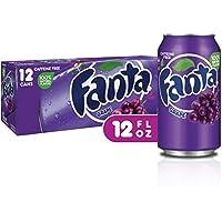 Fanta Refresco con Gas, Sabor Uva - Paquete de 12 x 355 ml - Total: 4.26L