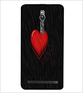 PrintDhaba Heart D-1145 Back Case Cover for ASUS ZENFONE 2 (Multi-Coloured)