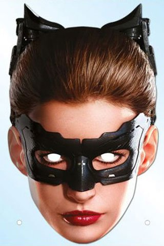 Preisvergleich Produktbild Batman - The Dark Knight Trilogy - Catwoman Maske aus hochwertigem Glanzkarton, mit Augenlöchern