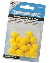 Silverline 457023 Paquet de 10 bouchons d'oreilles pour arceau