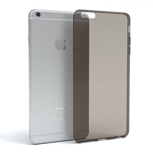 """EAZY CASE Handyhülle für Apple iPhone 6S Plus, iPhone 6+ Hülle - Premium Handy Schutzhülle Slimcover """"Clear"""" hochwertig und kratzfest - Transparentes Silikon Backcover in Klar / Durchsichtig Schwarz / Anthrazit"""