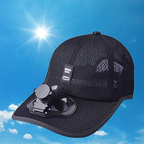 cineman Outdoor Fan Cap gekühlte Baseball-Mütze für Camping Reisen Angeln Joggen Tennis Golf Hut, Sommer Ventilator Kappe Kühlerlüfter