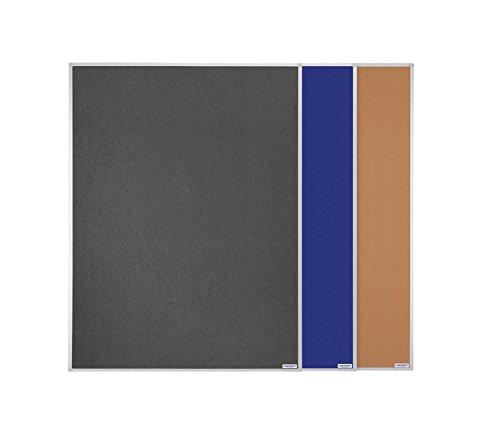 Pinntafel einseitig Filz blau 1500 x 1200 mm