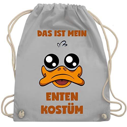 Karneval & Fasching - Das ist mein Enten Kostüm - Unisize - Hellgrau - WM110 - Turnbeutel & Gym Bag (Ente Donald Kostüm)