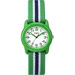 Timex Kids Analog Green/Blue Elastic Strap TW7C06000