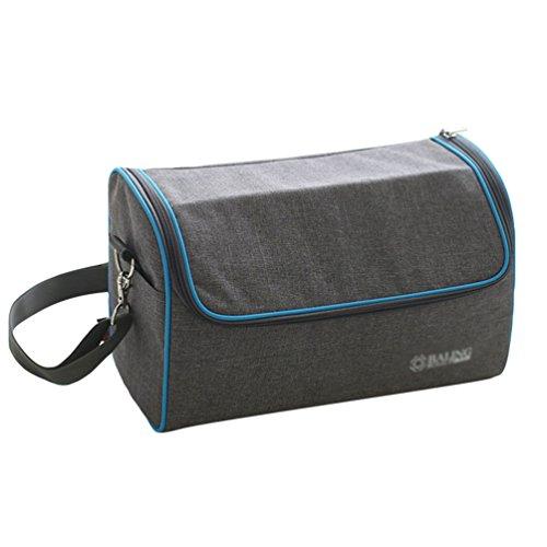 LINNUO Lunch-Tasche Isolierte Kühltasche Campingtasche Picknicktaschen Mittagessen Tasche Lunchtasche Lunch Tote Schultertasche Thermotasche, 32 * 14.5 * 19.5cm