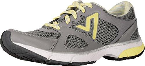 Vionic Women's Satima Active Sneaker Grey/Yellow 8 M (Motion-control-schuhe 8 Frauen)