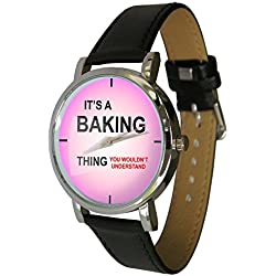 Its a Baking Thing Design Watch, for all fans of Baking. Genuine Leather Strap