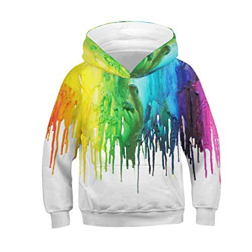 Sumeiwilly Teen Kinder Mädchen Junge Print Cartoon Sweatshirt Tasche Pullover Hoodie Sweatshirt Pullover Kurzes Sport - Herren 80's Cartoon Kostüm