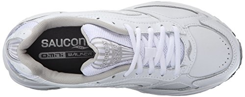 Saucony Women's Grid Omni Walking Shoe,White/Silver,11.5 W White/Silver