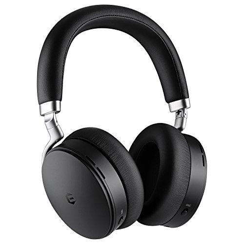 Cuffie bluetooth con cancellazione rumore, cuffie senza fili, euasoo auricolari over-ear pieghevoli cancellazione attiva del rumore cuffie wireless e cablate