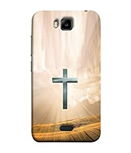 PrintVisa True Cross 3D Hard Polycarbonate Designer Back Case Cover for Huawei Honor Bee :: Huawei Honor Bee Y5c