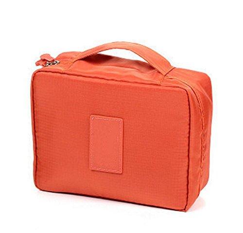 Voyager Avec Un Sac De Stockage De Grande Capacité Sac De Lavage Sac Cosmétique Paquet Multifonctionnel De Stockage,Orange
