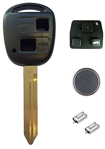 toyota-diy-repair-kit-replacement-2-button-remote-car-key-fob-case-with-toy47-blade-2-micro-switches