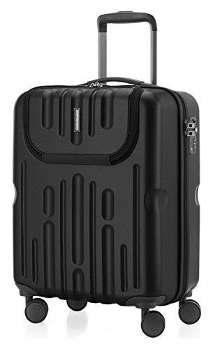 HAUPTSTADTKOFFER - Havel - Handgepäck Hartschalen-Koffer Trolley Rollkoffer Reisekoffer, TSA, 54 cm, 41 Liter, Schwarz