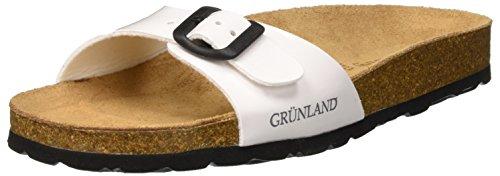 Grunland sara, scarpe da spiaggia e piscina donna, bianco (bianco), 40 eu