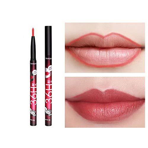 Kisses Lipstick Matt Lippenstift Lipliner Wasserfest Lip Liner Stick Langlebige Bleistift Lipgloss...