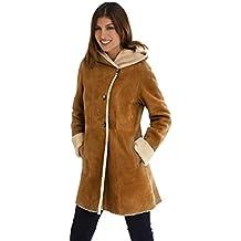 DANKO 19009 Manteau Femme en Peau lainée Mouton 100% mérinos Espagnol. d63521a427b