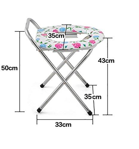 G&M Sitting Stuhl Stuhl für schwangere Frauen Bad Stuhl für ältere Menschen Toiletten WC Sitz Edelstahl WC Sitz