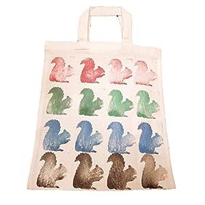Geschenktasche ⚘ Stoffbeutel ⚘ Eichhörnchen ⚘ Mädchen ⚘ Damen ⚘ Weihnachten ⚘ Täschchen ⚘ gestempelt ⚘ handgemacht ⚘ handmade