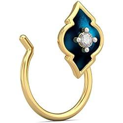 BlueStone Mughalia Collection 18k Yellow Gold and Diamond Wahida Nose Pin