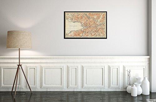 Die Schweiz-antiken-karte (New York Map Company  1913 Karte Schweiz Zürich ZüRich ZüRich 1:14.000 Relief Gezeigt von hachures.Geograph. Anst. Kunstdruck im Vintage-Stil, fertig zum Einrahmen)