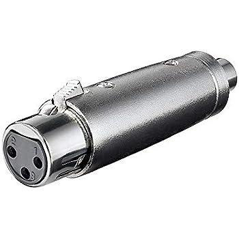 XLR Adapter 3-polig XLR Stecker auf Cinch Kupplung: Amazon