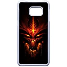 Samsung Galaxy Note 5 Edge Cell Phone White Case Devil_004