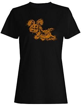 Nuevo Bosquejo Divertido De Los Animales camiseta de las mujeres i541f
