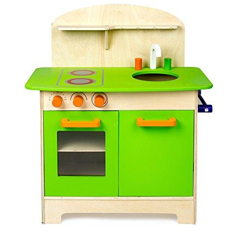 Mamakiddies Wooden Kitchen Children's Cooking Role Play Set