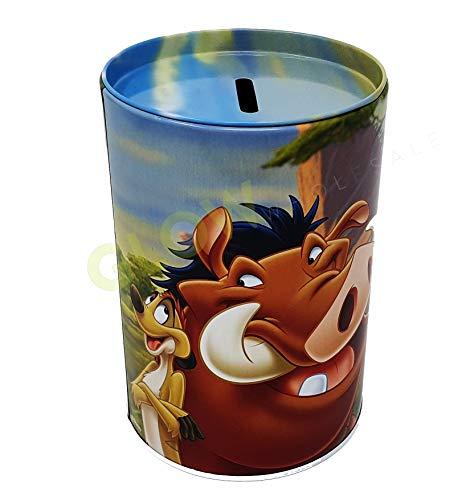 GLOW Wholesale Spardose mit abnehmbarem Deckel, leuchtende und Bunte Spardose aus Metall, Lion King Lion Deckel