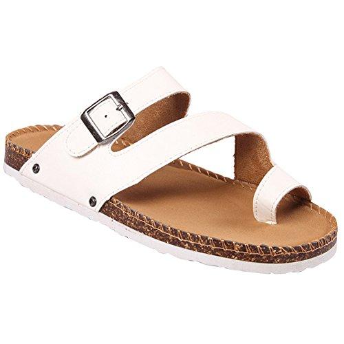 Sandali Unisex Adulto - Flip Flop Donna - Pantofole Infradito Uomo Bianco