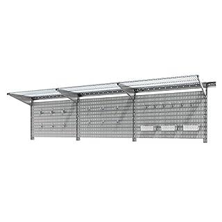 AllSpace 450076HF 38 Piece Wall Organizer Pegboard and Accessory Set Utility Wall Organization Kit 38pc/WallMount/Garage/PegBoard-450076HF, 38pc