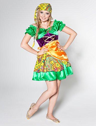 Zigeunerin Kostüm Grün/Gelb (Zubehör Kostüm Gipsy)
