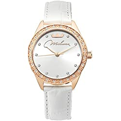 MILUNA Watch, orl1000_w30 white and rose gold
