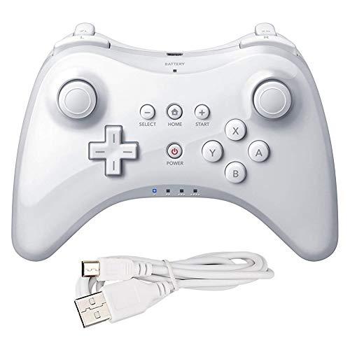COOLEAD Mando Pro para Wii U Controlador de Mano para Wii U Inalámbrico Remoto Mando de Juego para Wii U Wireless Controller Pro Gamepad Joypad Pro Controller Wireless Bluetooth para Nintendo Wii U