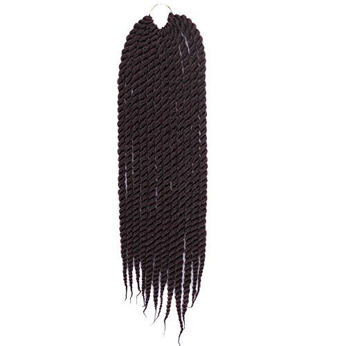 Frauen-Mädchen Farbverlaufs-Torsions Häkelarbeit-Zopf-Erweiterungs-Perücken Schwarze Mode große Skorpion Doppelstrang Mehrfarbig Schmutzig 20 Zoll / 51 cm Zolimx